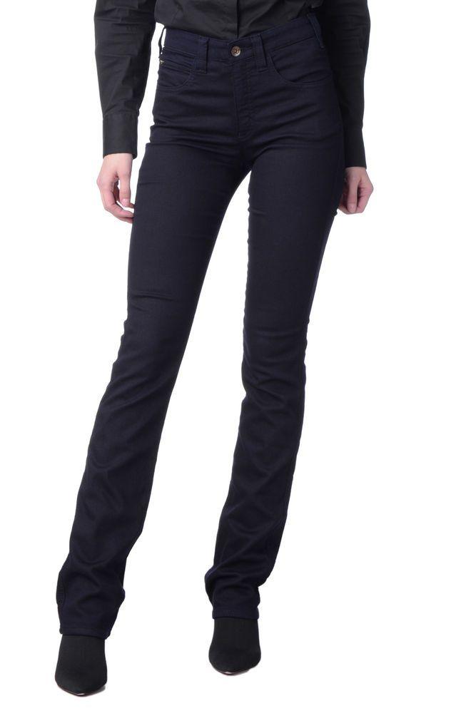cab4b5178c ARMANI JEANS Trousers Size 25 Stretch High Waist Straight Leg ...