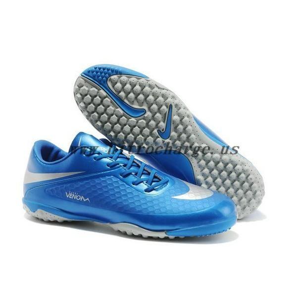 c6b0ab35cb0 Neymar Nike Hypervenom Phelon ACC Turf Shoes in Blue Silver ...