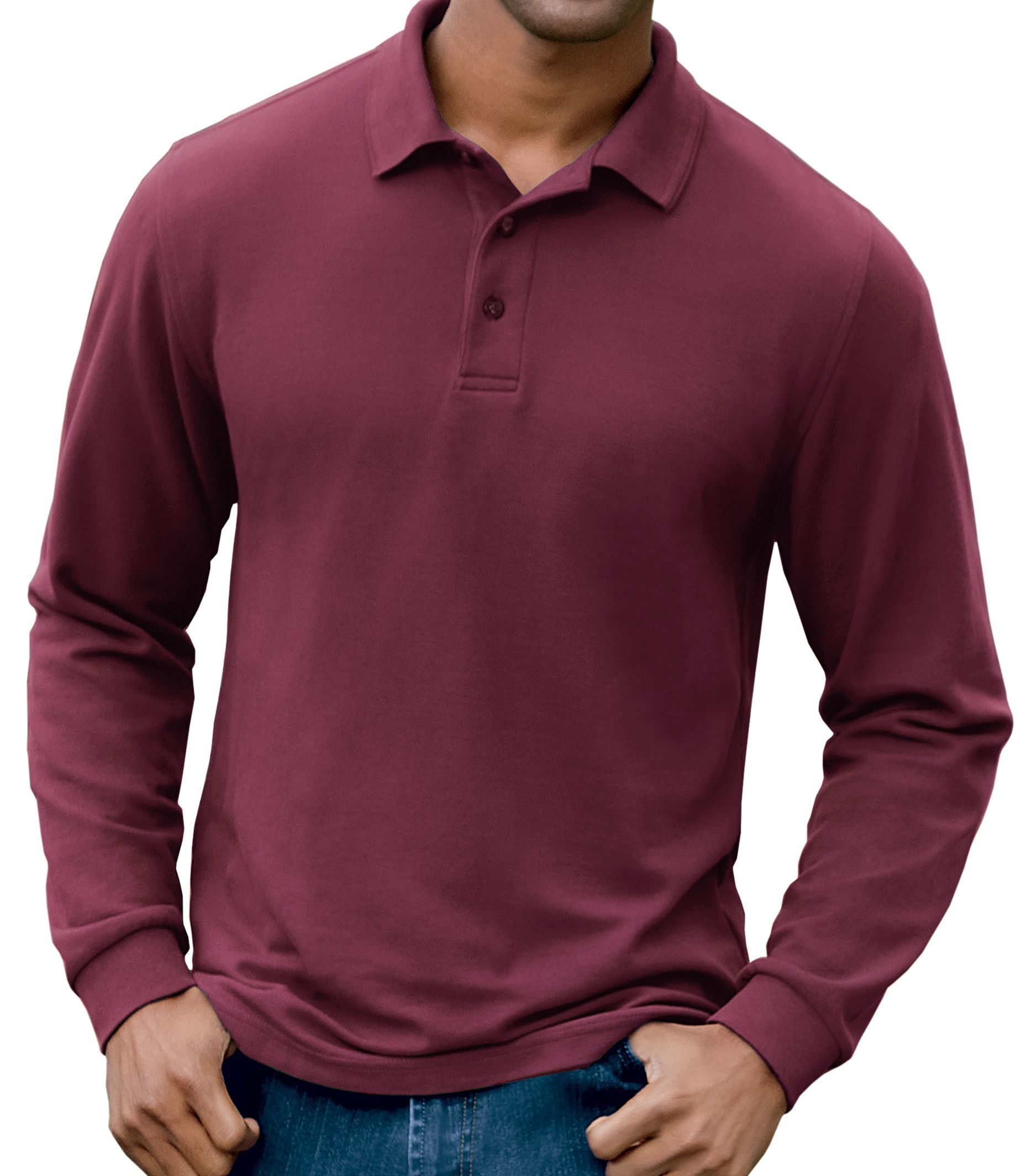 1f08dff7 Traveler Long-Sleeve Interlock Polo Big/Tall | Products | Polo, Mens ...