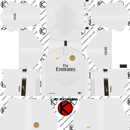 ac1ada3ad64 Paris Saint-Germain (PSG) 2018/19 Kit - Dream League Soccer Kits ...