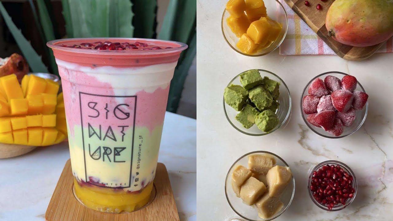 واكتشفنا طريقة عصير سيجنتشر Signature Juice من 15 ثانية Food Cooking Desserts