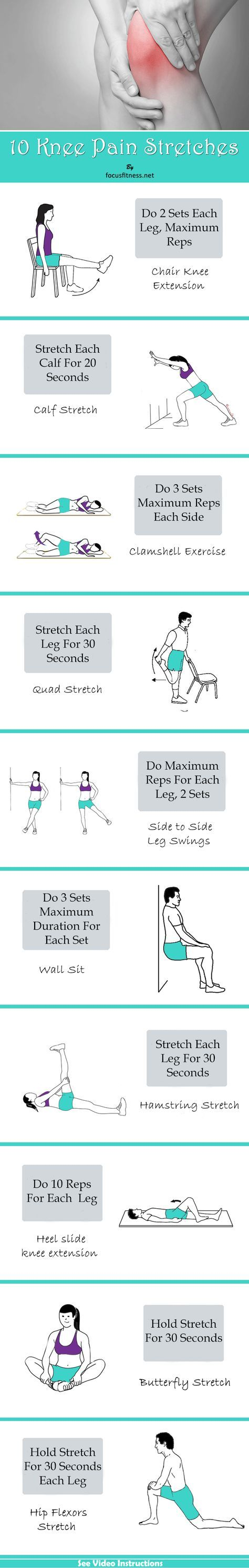 Knee pain diagnosis chart - Effective Hip Flexor Stretch 10 Simple Stretches That Relieve Knee Pain For Goo