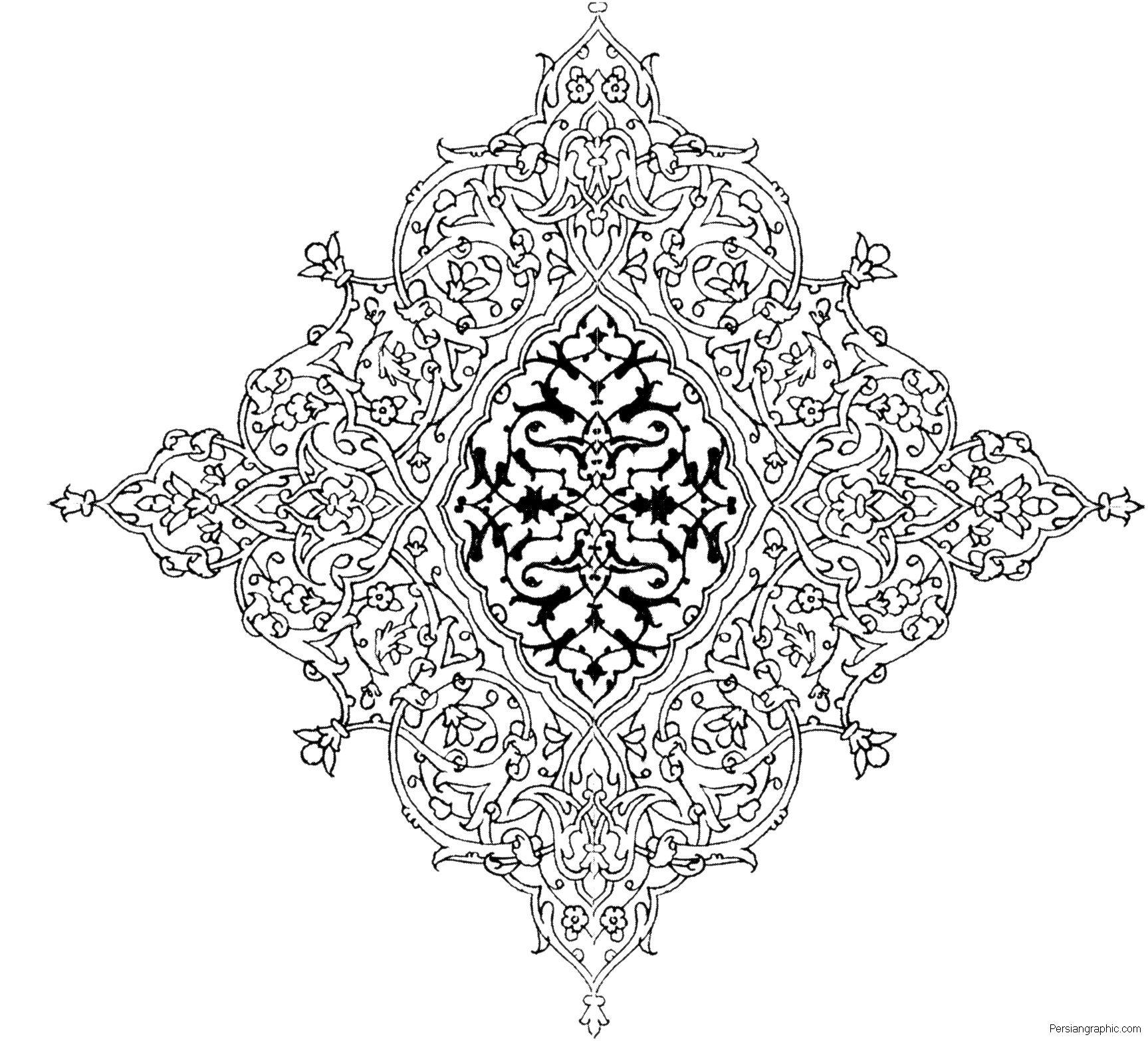 Eslimi 25 20091020 1129884660 1727x1567 Arabesque PatternIslamic PatternsIslamic MotifsAdult ColoringColoring BooksColouringIslamic