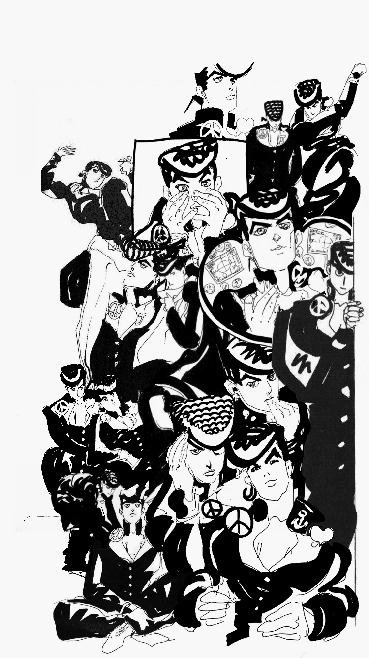I Got Bored So I Made A Wallpaper Entirely Out Of Araki Sketches