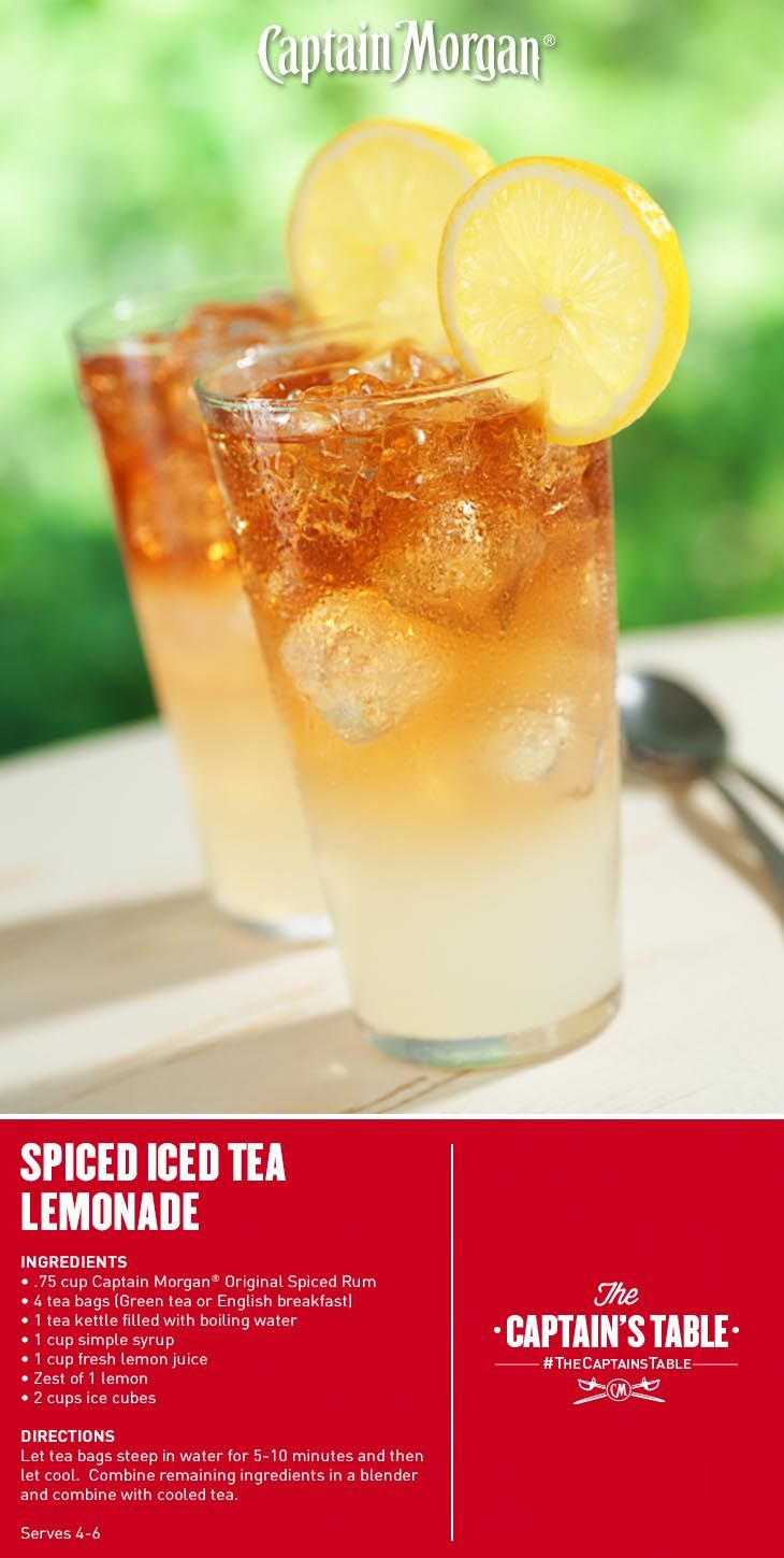 Spiced iced tea lemonade make it with spirits for Mixed drink with spiced rum