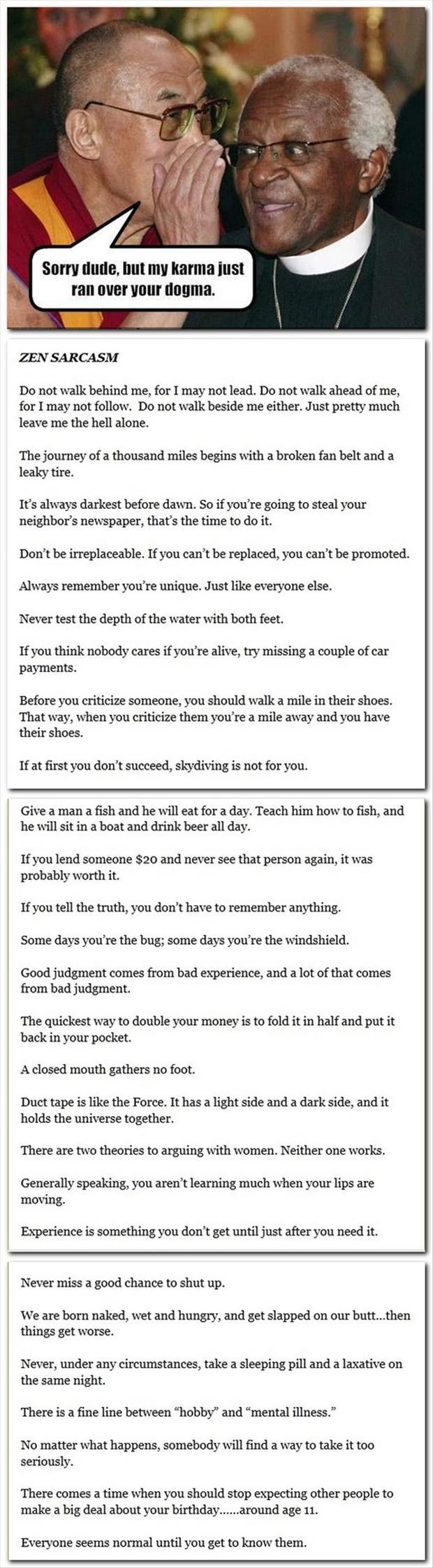 Zen Sarcasm, Funny Quotes | Work Quotes, Sarcasm Quotes