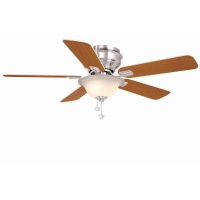 Hampton Bay Hawkins 44 in. Brushed Nickel Ceiling Fan-YG204-BN-D at The Home Depot