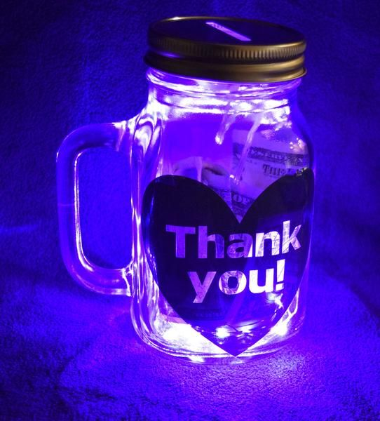 Tip Jar For Uber Rideshare Illuminated Customizable Tip Jars Rideshare Jar