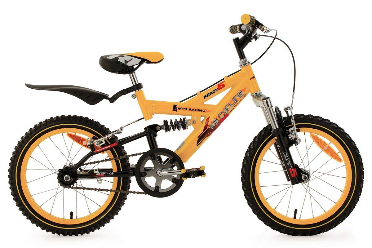 Mountainbike bambino 16'' Krazy gialla 28 cm KS Cycling: Amazon.it: Sport e tempo libero