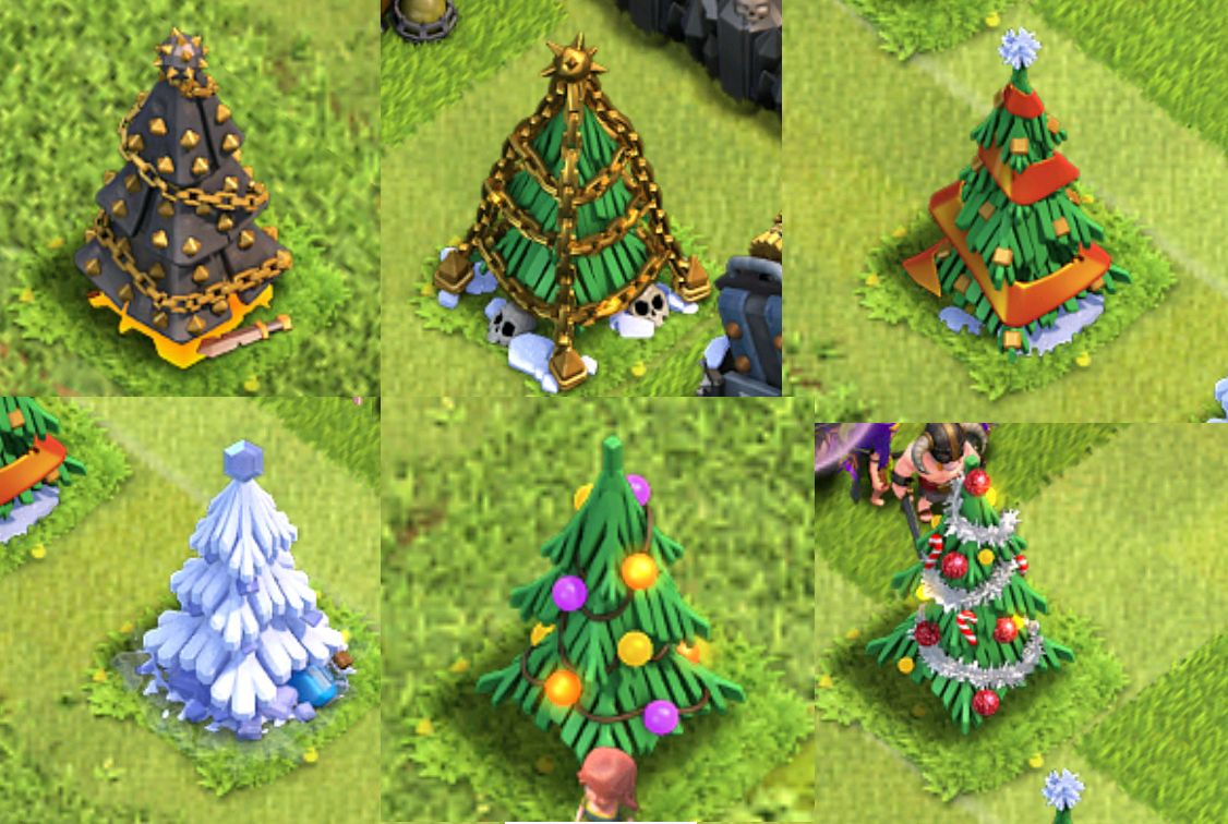 In Clash of Clans they have made a new Christmas tree every year ...