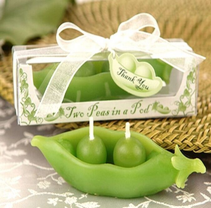 3 43 Aud Fd2771 Lucky Green Pea Candle With Box For Wedding X Mas Home Decor Cute Gift Ebay Garden