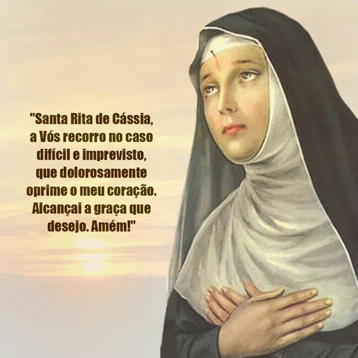 Pin Doa Fatinha Rabaça Em Santa Rita De Cássia Novena De