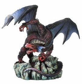 Dragon with Open Wings and Clenching Fist Sculpture