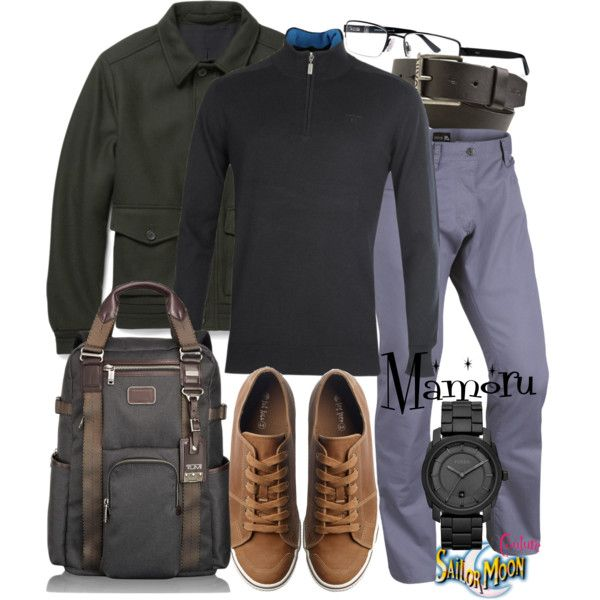 Mamoru by sailormooncloset on Polyvore featuring мода, Tumi, FOSSIL, Barbour, Alfred Dunhill, NIKE, Fat Face and Nixon