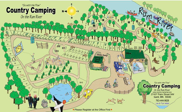Campground Map Country Camping Rv Park In Isanti Mn Camping Destinations Tent Camping Camping Fun