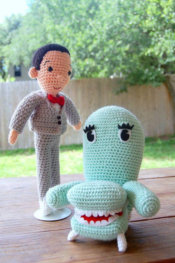Pee-wee and Friends Pee-wee\'s Playhouse Crochet doll dolls Amigurumi ...