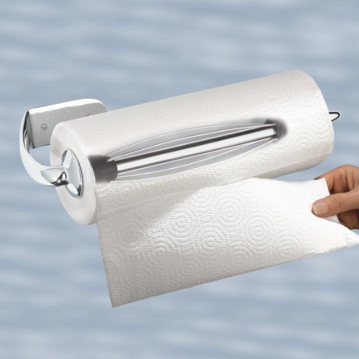Amazon Com Perfect Tear Chrome Paper Towel Holder Horizontal Wall Mounted Perfect Tear Ratchetin Paper Towel Holder Towel Holder Wall Mounted Towel Holder