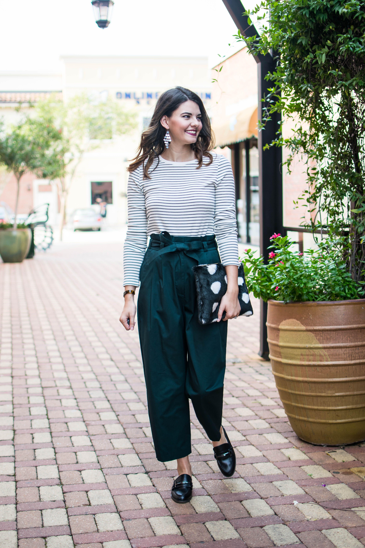 Business Casual Outfit Comfortable Work Stylish Teacher Clothes High Waist Pants Tortoise S Bracelet