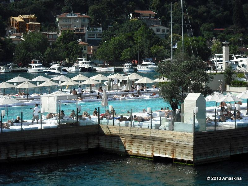 360 Suada Club (artificial island in the middle of Bosphorus), Istanbul, Turkey.