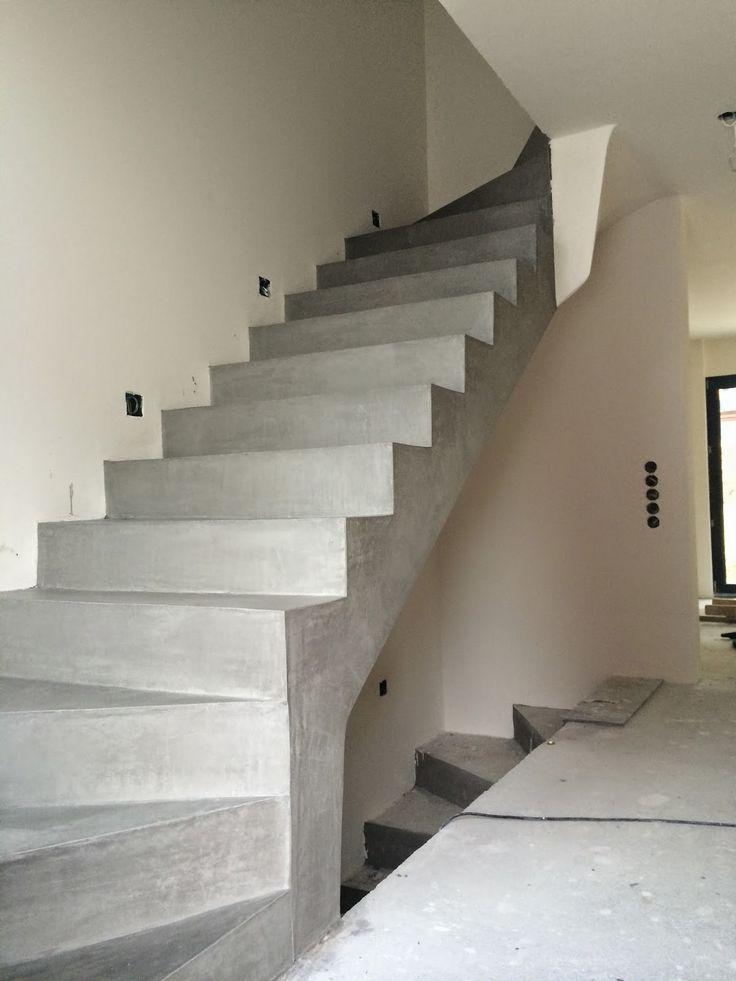 Betontreppe Beschichten Beton Cire Besser Bauen Concrete Stairs
