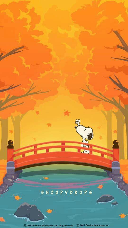 Peanuts Wallpaper Fall Snoopy In Autumn Snoopy Snoopy Wallpaper Snoopy
