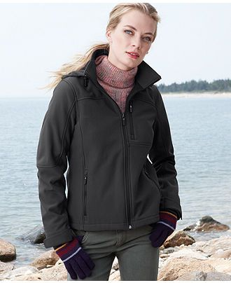 Macy's: $79.99 Calvin Klein Jacket, Hooded Soft Shell Fleece-Lined ...