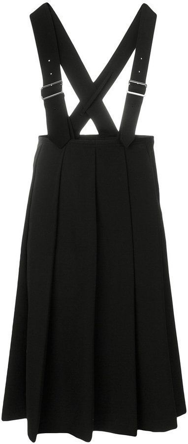942b49ade178 Comme des Garcons suspender pleated midi skirt | Products | Pleated ...