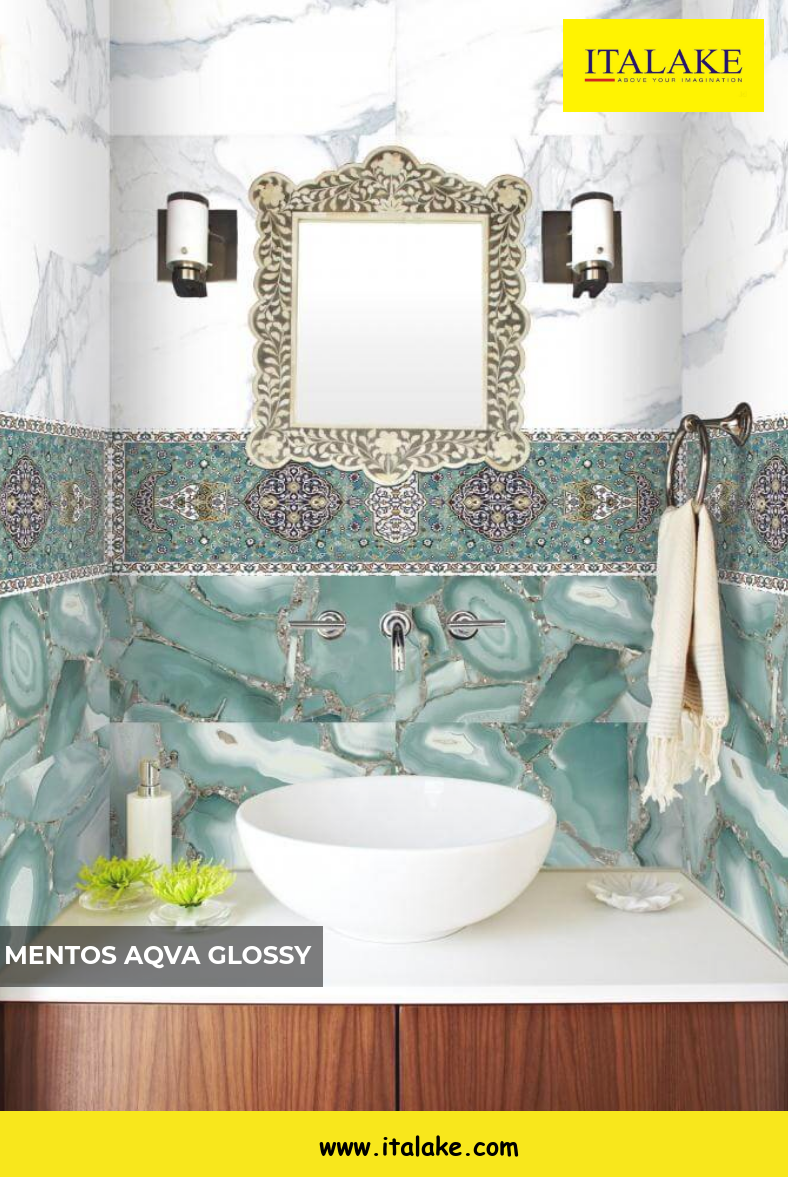 Buy Mentos Aqva Glossy Tiles Ceramic Tiles Wall Tiles Digital