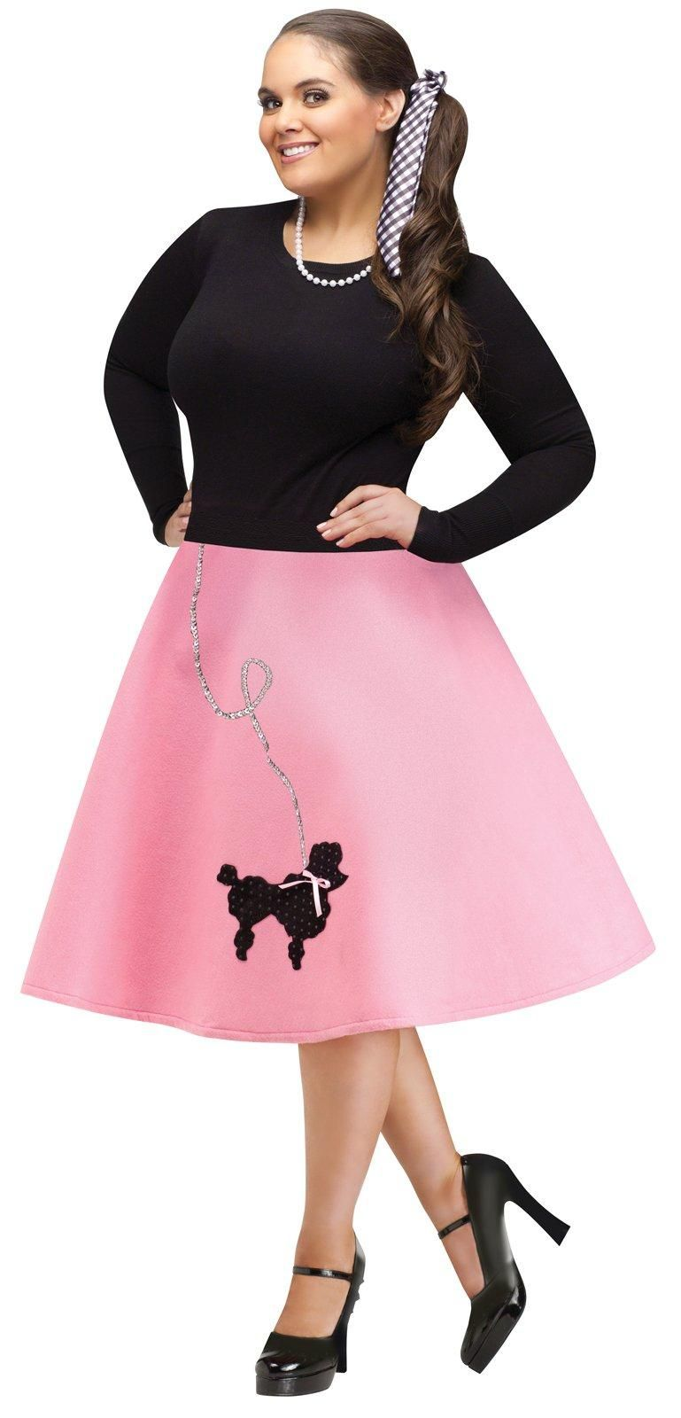 Womens Plus Size Poodle Skirt Dress | 1950\'s party in 2019 ...