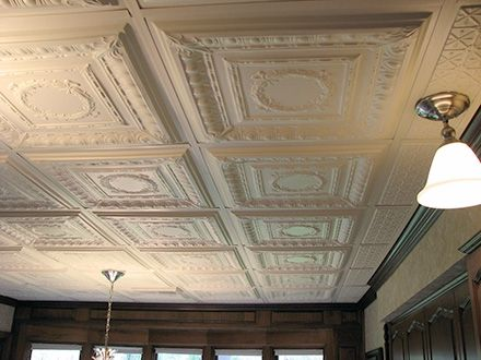 How To Install Decorative Ceiling Tiles Ceilume Smart Ceiling Tiles  Customer Photo Gallery  Showroom