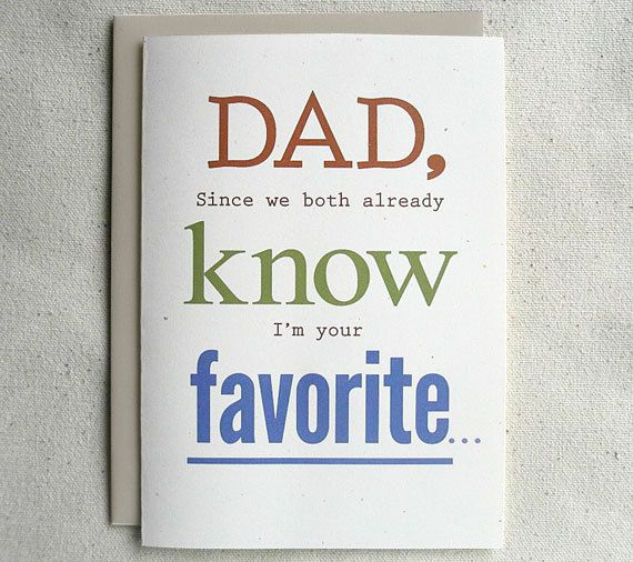Father Birthday Card Funny Dad Since we both already know Im – Funny Dad Birthday Cards
