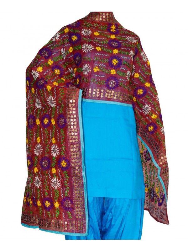 Chanderi Handicraft Dupatta Chanderi Dupatta - Handicraft  Lenght 2.35 Meter, Width 0.88 Meter  Handwash/Dry Clear  Cloth - Chanderi Shop Now : http://www.jankiphulkari.com/red-chanderi-handicraft-dupatta-jdc2678
