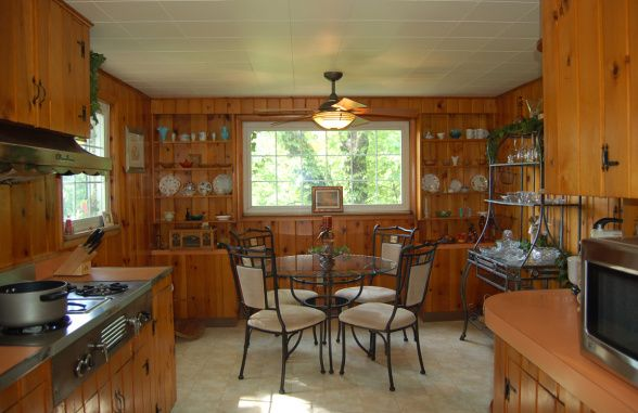 A Kitchen With Vintage Character: Knotty Pine Character - Kitchen