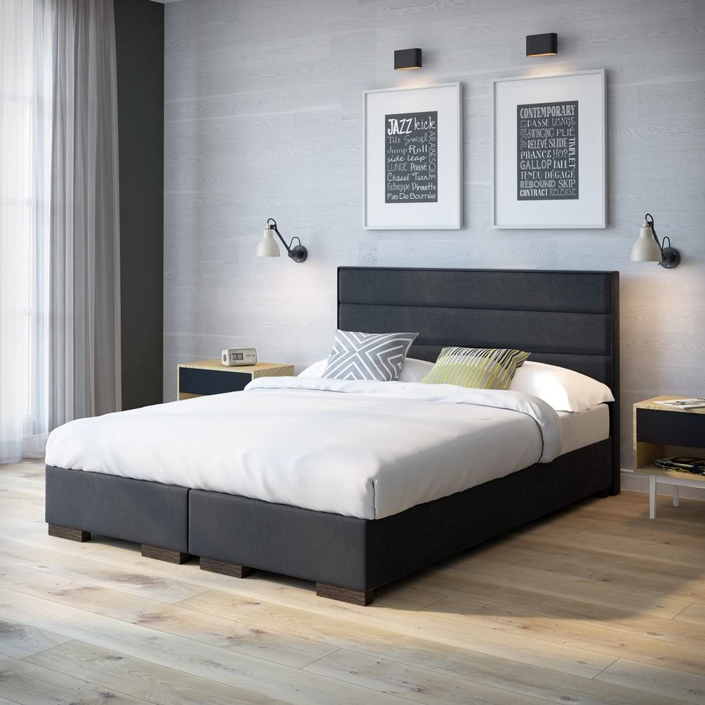 Nowoczesne Stylowe łóżko Kontynentalne Street Dedykowane