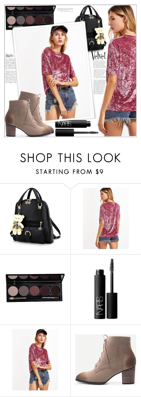 """""""Ootd Saturday"""" by mycherryblossom ❤ liked on Polyvore featuring NARS Cosmetics, velvet, polyvoreeditorial and polyvorestyle"""