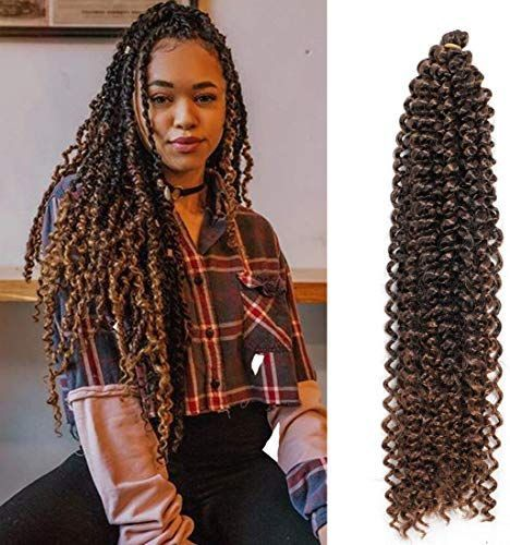 New Passion Twist Hair 18inch Water Wave Synthetic Braids Passion Twist Crochet Braiding Hair