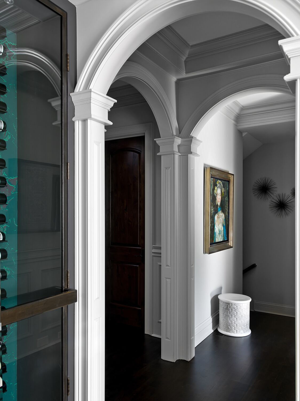Hallway leading to the ladies rooms - Painted Lady Hallway