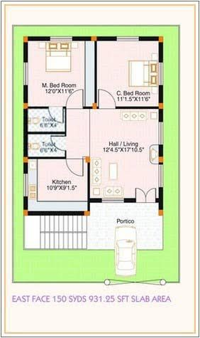 Image Result For West Facing Small House Plan Floor Plan