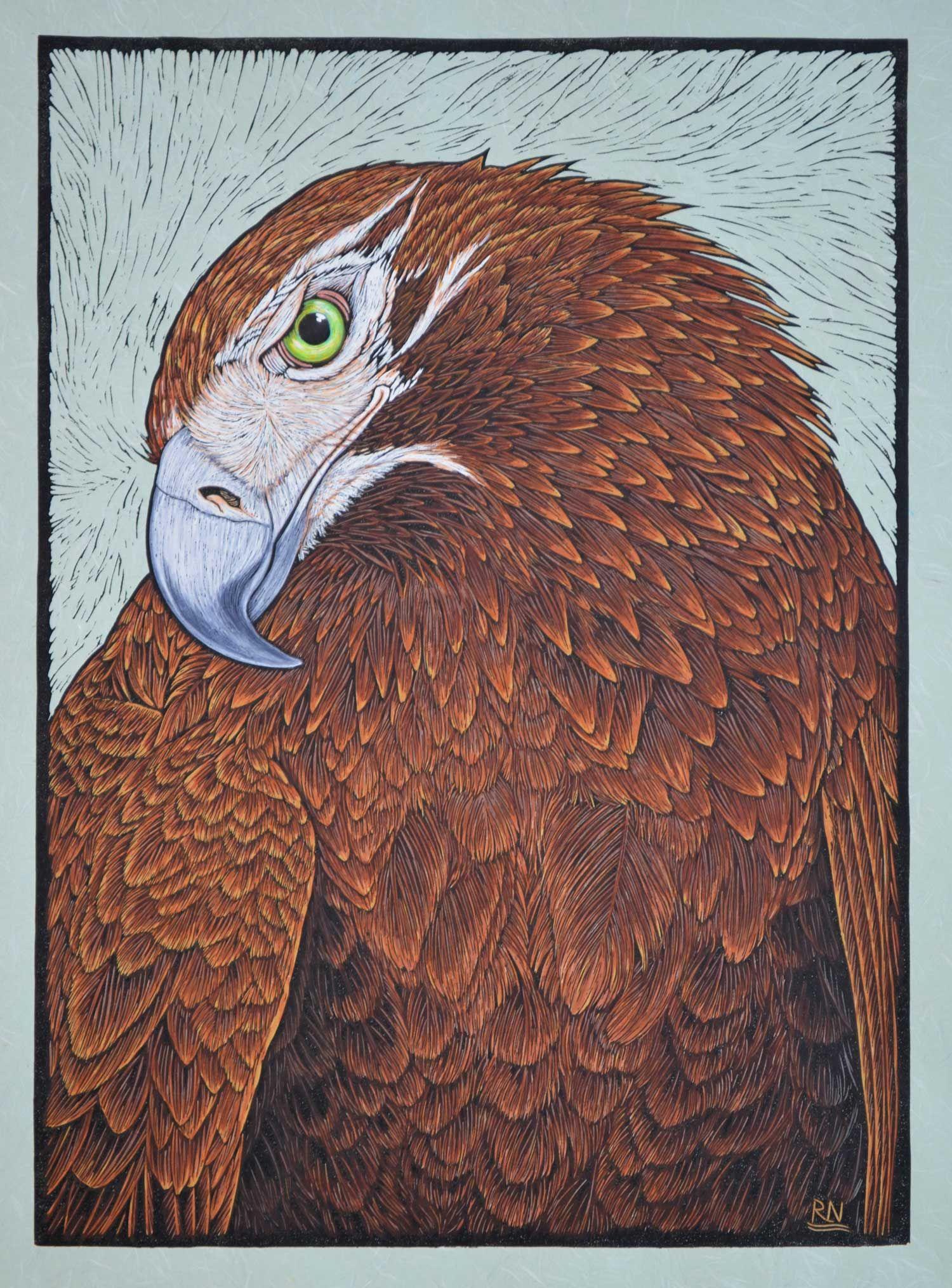 Birds 2 linocuts rachel newling in 2020 linocut