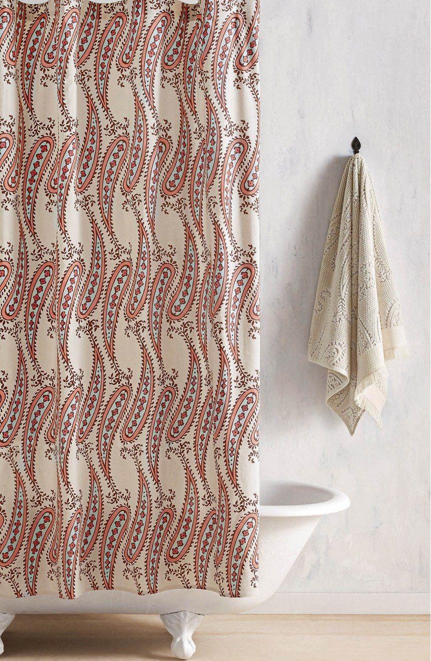 John Robshaw Naji Shower Curtain Curtains Powder Room Design