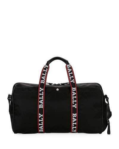 f9b7cd0108 Bally Men s Darcy S0 Logo-Tape Nylon Duffel Bag