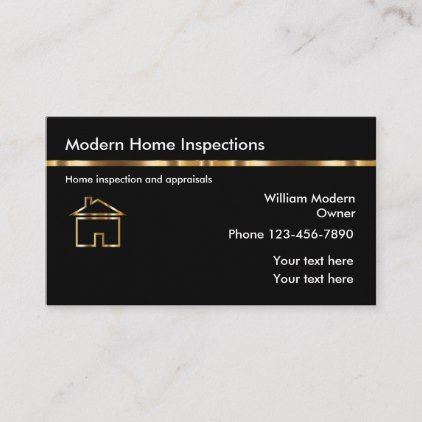 Classy Home Inspection Appraisals Business Card Zazzle Com Home Inspection Appraisal Business Card Template Design
