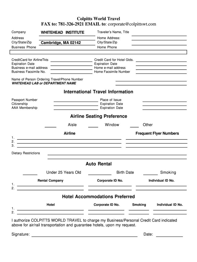 Travel Profile Template Fill Out And Sign Printable Pdf Template Signnow In Travel Request Form Te Printable Signs Templates Microsoft Word Resume Template