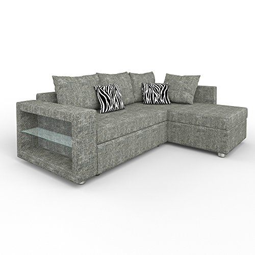 Sofa Eck Couch Led Wohnlandschaft Garnitur Schlafsofa Regal Polstereck