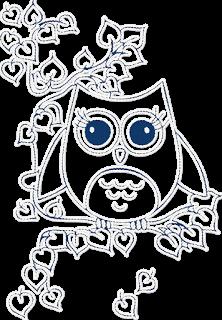 Criando Ideias Legais: Corujinha Azul - PNG