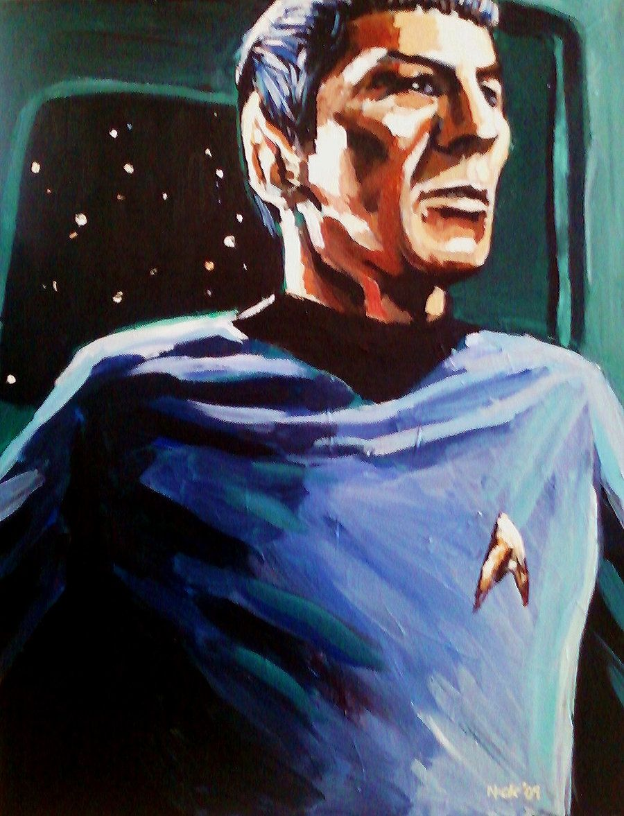 Spock Acrylic Painting - Credit: Nick (soljwf98)