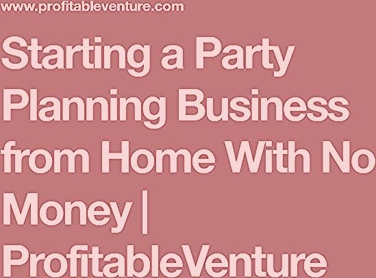 Party Planning Business