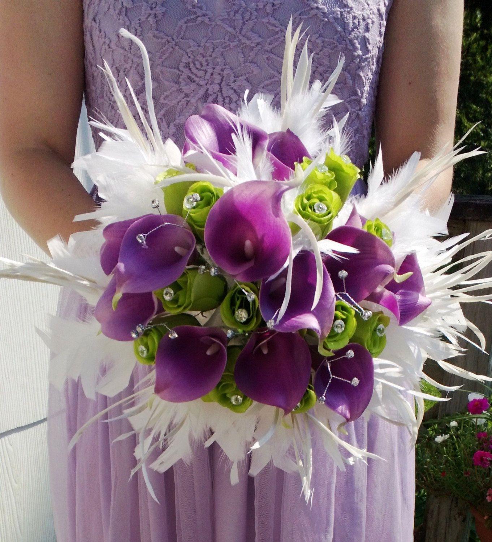 Calla Lily Bouquet Purple calla Bouquet by