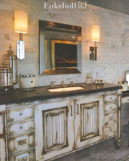 Rustic French Country Vanity Country Bathroom Decor Rustic