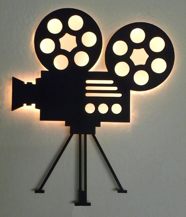 Movie Theater Wall Decor authentic film reel movie camera wall decor - home theater mart